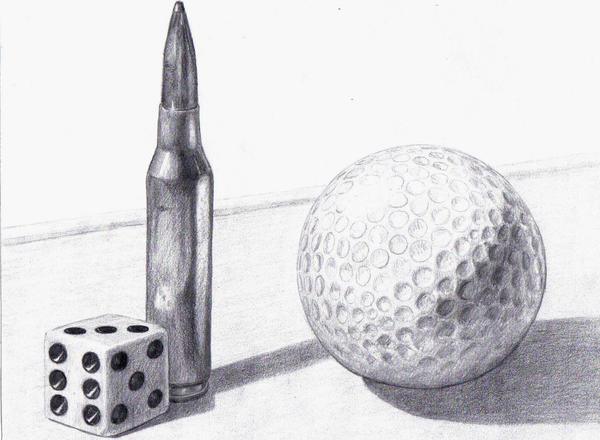 Drawing Test Still Life By Kruggar