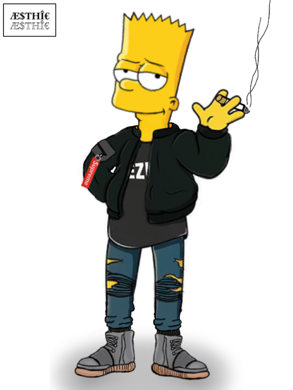 bart simpson x high fashion by aesthic arts on deviantart. Black Bedroom Furniture Sets. Home Design Ideas