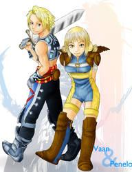 Vaan and Penelo by J-e-J-e