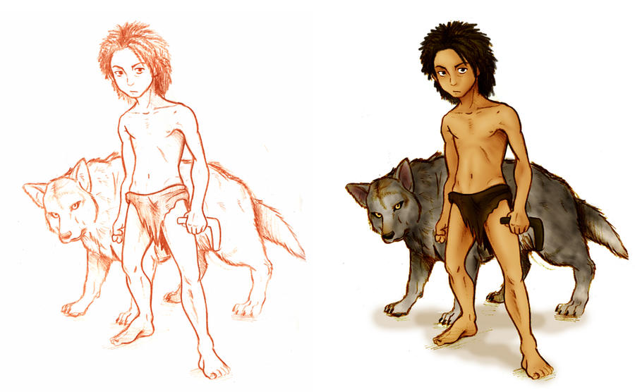 The Jungle Book- Mowgli by J-e-J-e