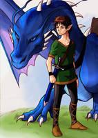 Eragon and Saphira. by J-e-J-e