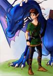 Eragon and Saphira.