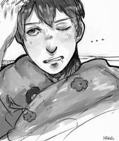 doodling a sleepy head [bert] by zhen-zi