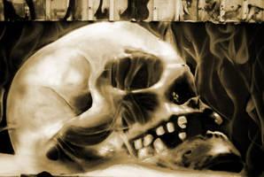 Smoked Skull by LeeArtStudio