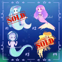 [OPEN Auction] Space Mermaid Adopts by NeonSR