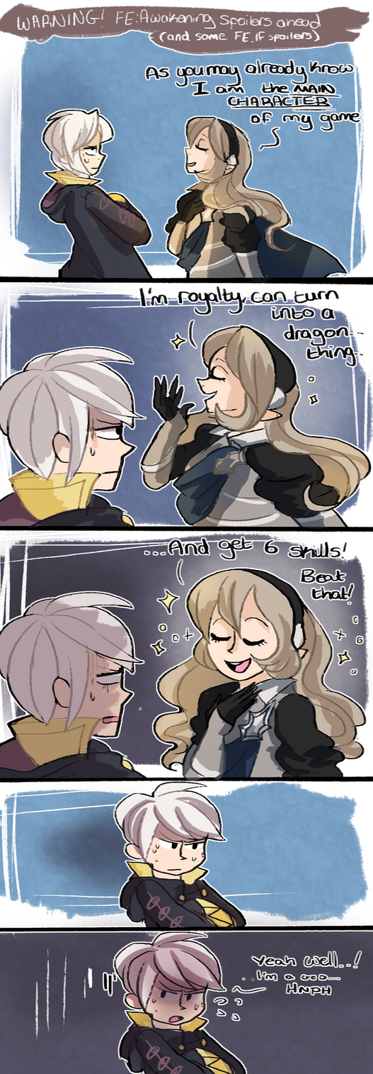 Kamui meets Robin (FE:A spoilers) by phlavours