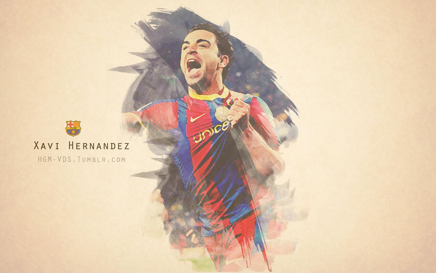Xavi painted wallpaper by hgm barca on deviantart xavi painted wallpaper by hgm barca voltagebd Gallery