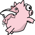 Free Flying Pigs adopts CLOSED by Obcodis