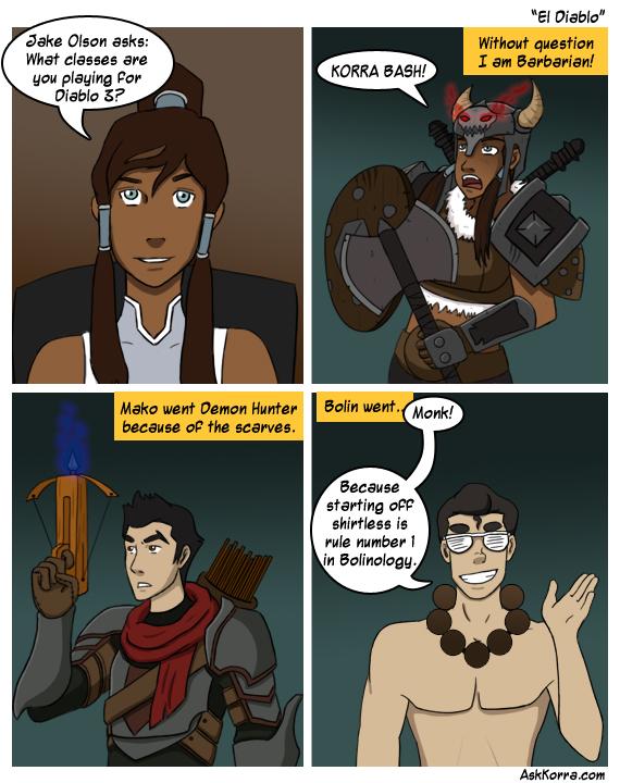 Ask Korra Diablo Edition by Pugthug