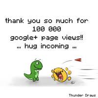 Big thank you: 100k google+ page views! by NaiBuff