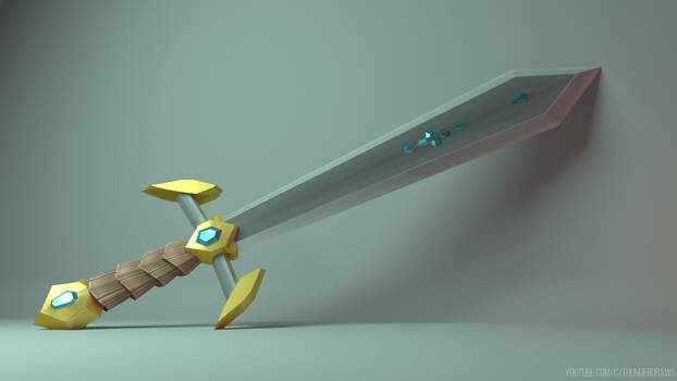 My First 3D Model - Sword Concept