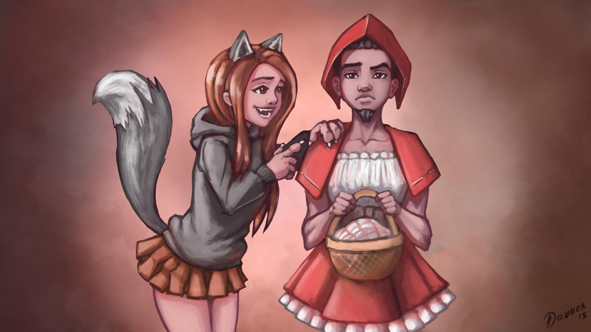 Wolf and Little Red Riding Hood [comm] by NaiBuff