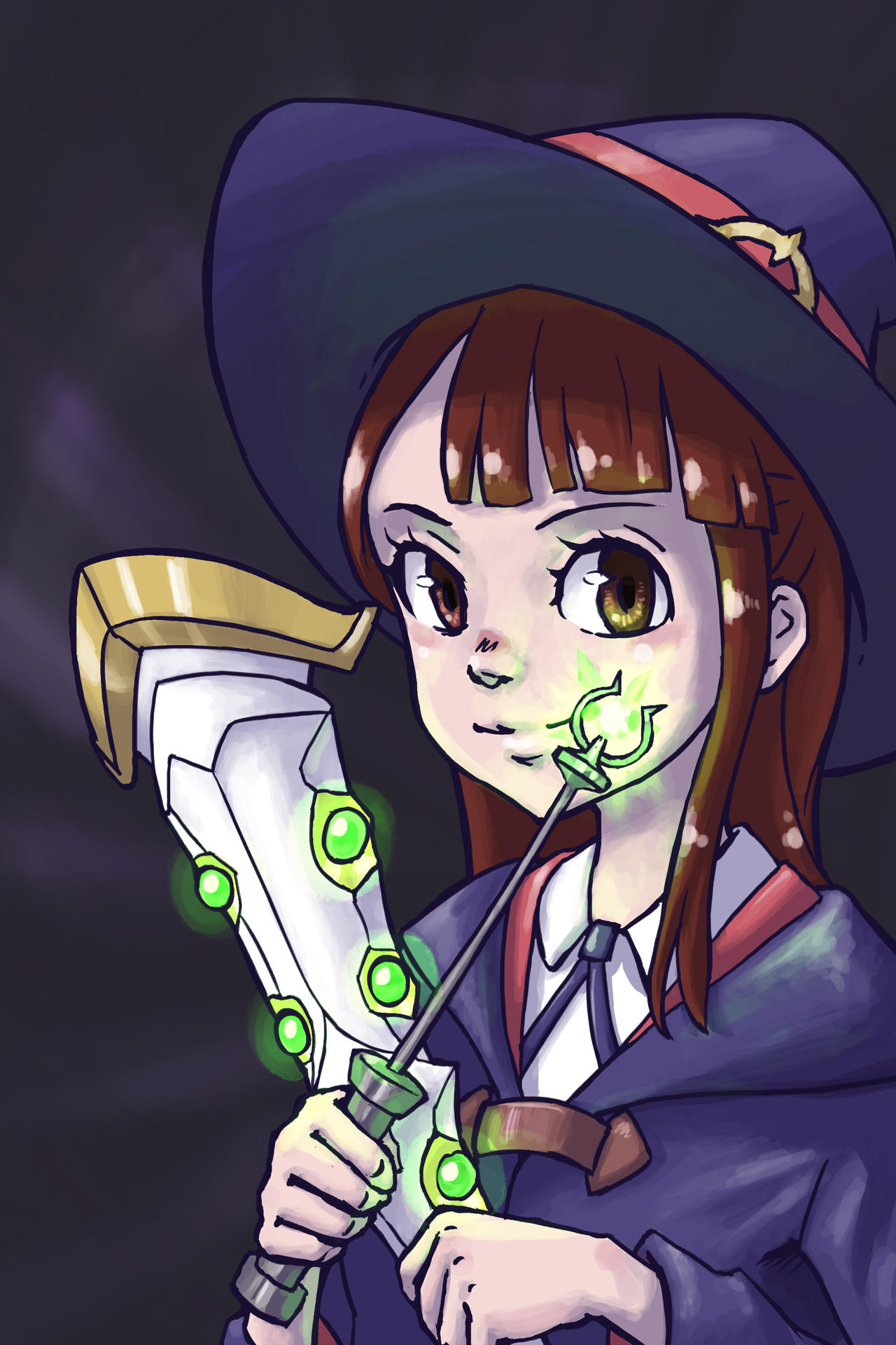 Little Witch Academia - Akko Kagari Fanart by NaiBuff