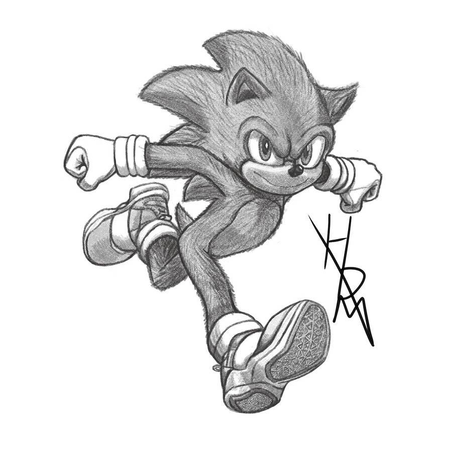pencil sonic the hedgehog drawing tutorial