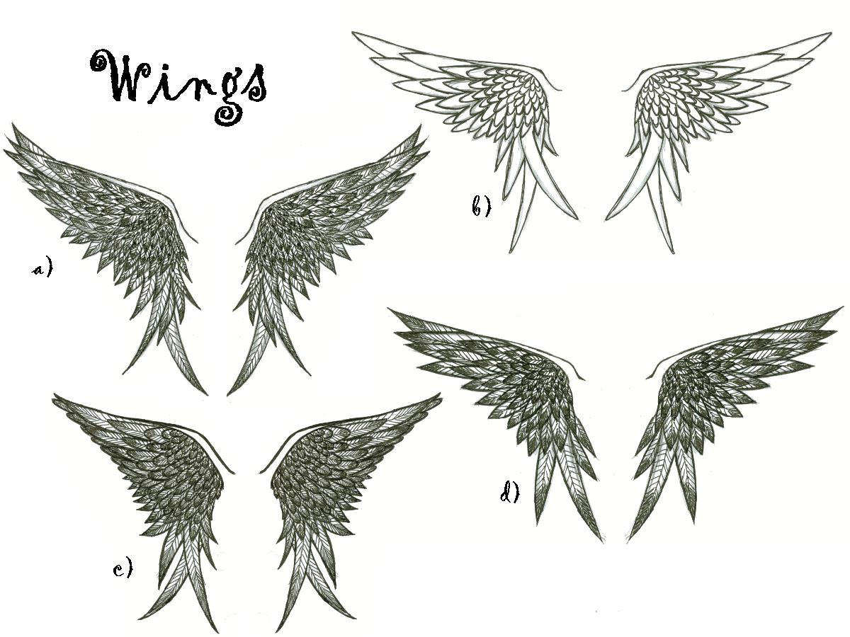 Wing tattoo design - Wing Tattoo Designs By Meganopolis Wing Tattoo Designs By Meganopolis