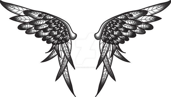 Final Wing Tattoo Design by Meganopolis