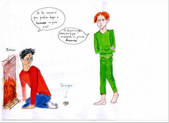 Harry fights with Ron (four book) by Pasoslargos