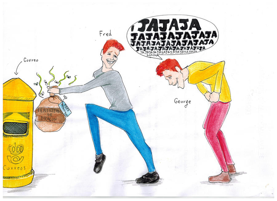 Fred and George by Pasoslargos