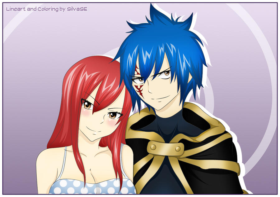 Erza and Jellal by SilvaSE on DeviantArt