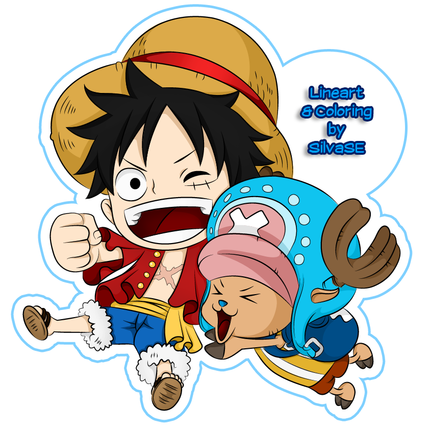 Chibi Luffy and Chopper by SilvaSE on DeviantArt