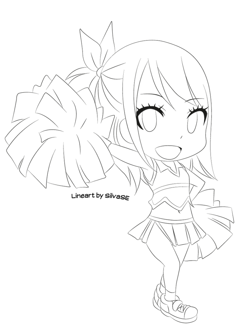 Chibi lucy lineart by silvase on deviantart for I love lucy coloring pages