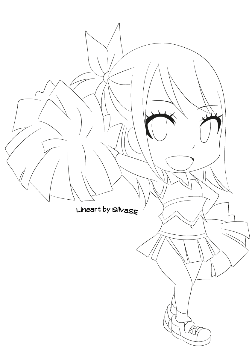 Chibi Lucy (Lineart) by SilvaSE on DeviantArt