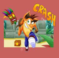 Oh hey, it's Crash Bandicoot! by Emuraman