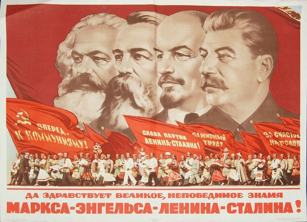 Marx-Engels-Lenin-Stalin banner by nikitakartinginboxru on ...