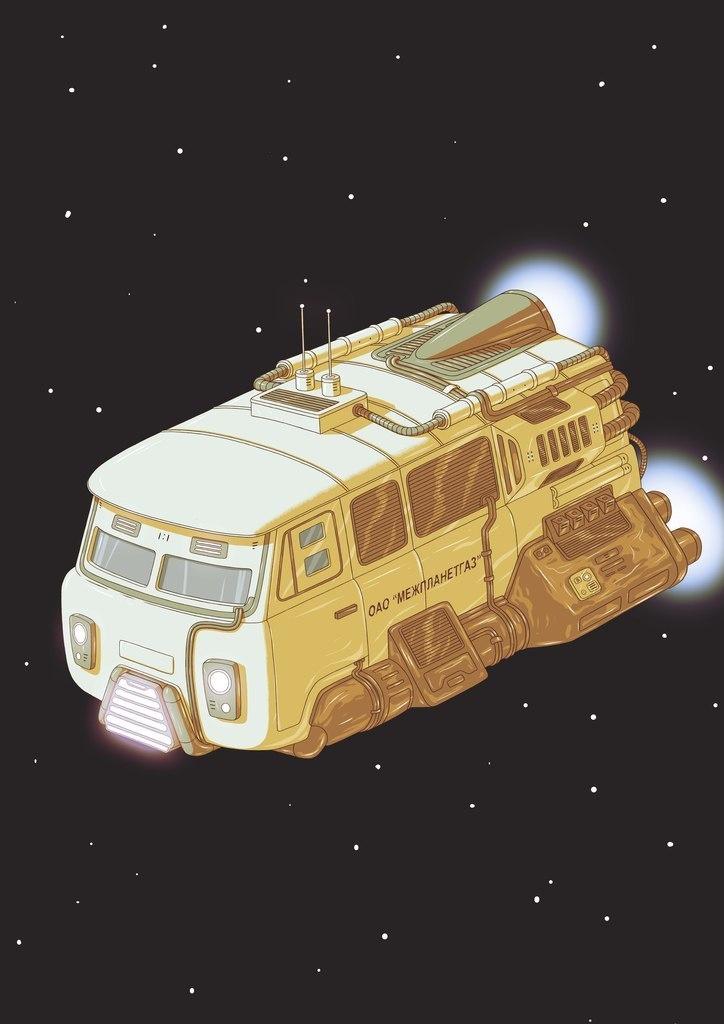 ''Interplanetary Gas'' UAZ by nikitakartinginboxru