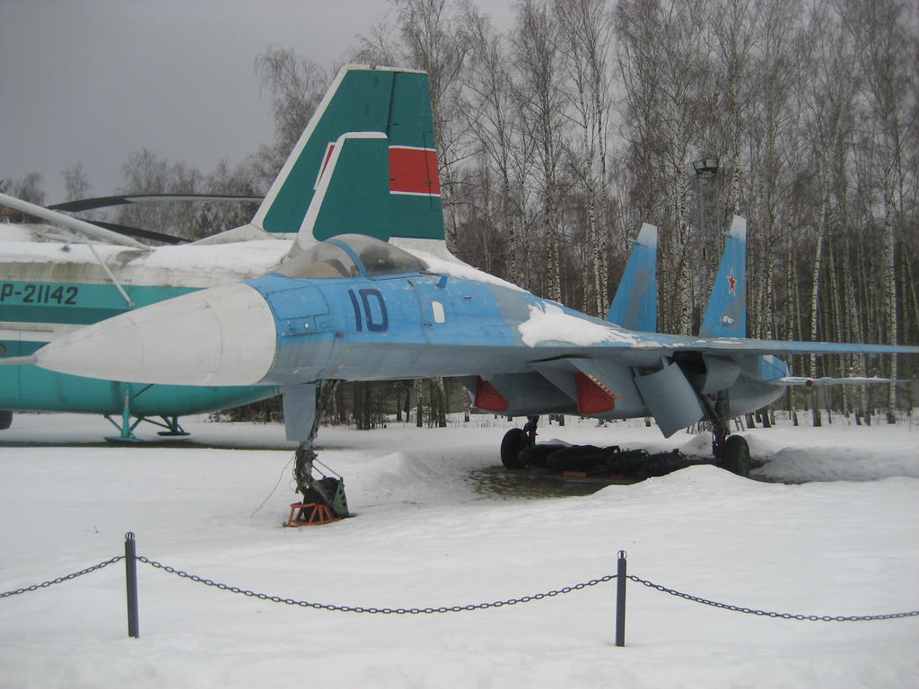 T-10 - Su-27 tactical jet fighter prototype by nikitakartinginboxru