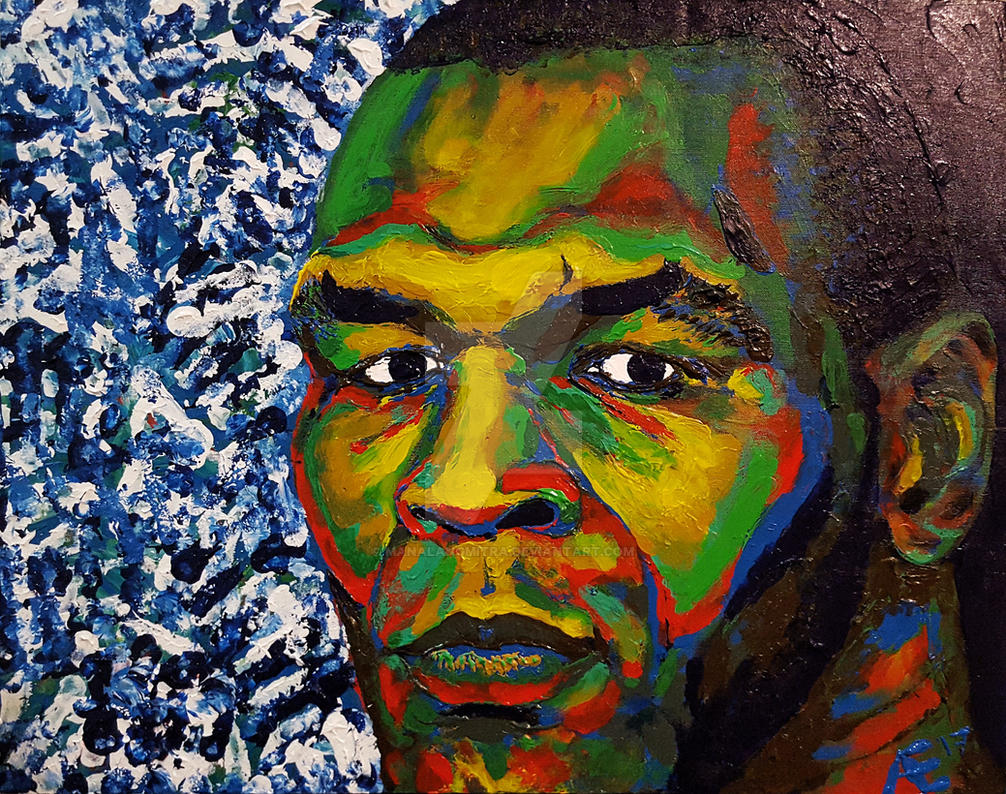 Iron Mike Tyson finger painting by manalangmitra