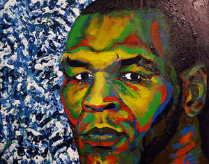 Iron Mike Tyson finger painting