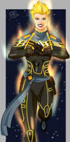 Black and Gold Captain Marvel