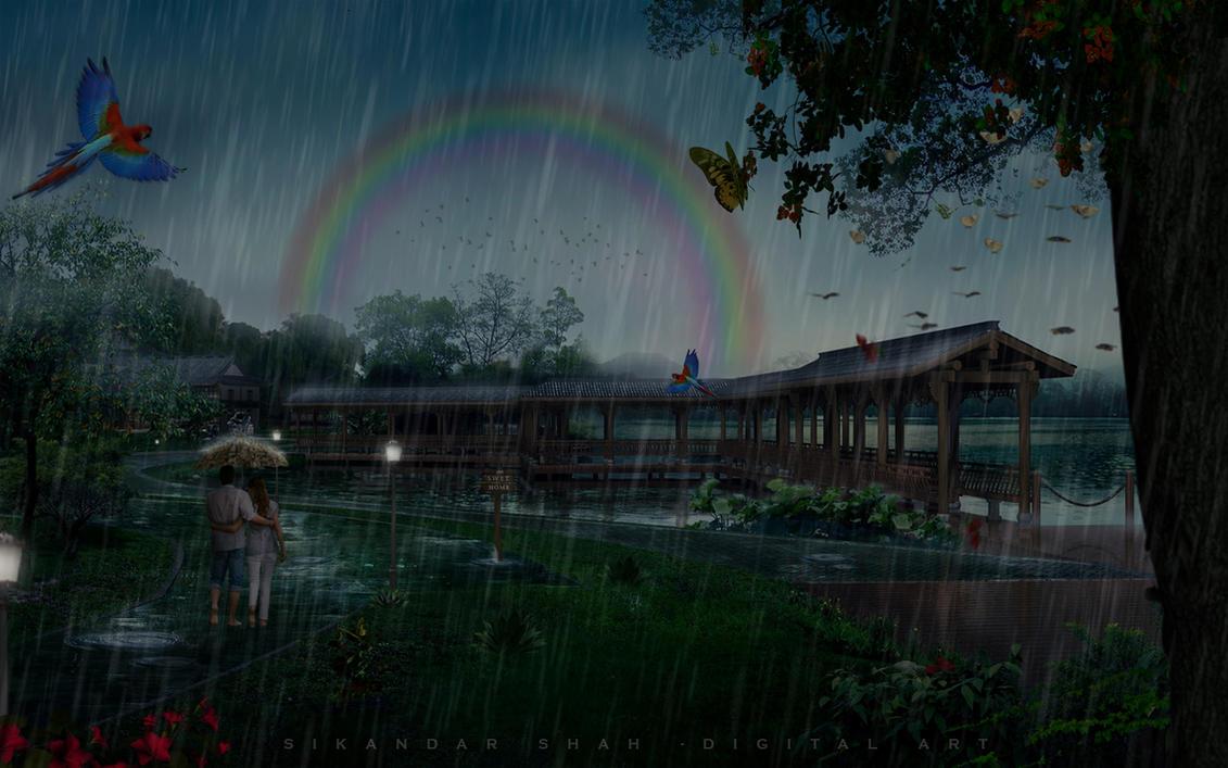 beautiful rain by jarryshah