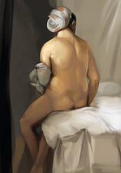 Figure Painting One by Liaslentak