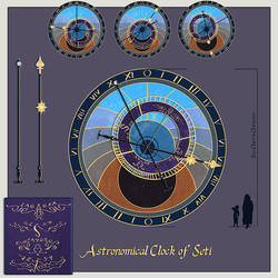 Astromonical Clock Prop Design