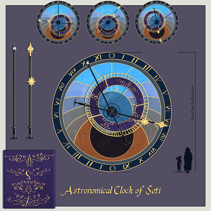 Astromonical Clock Prop Design by Liaslentak