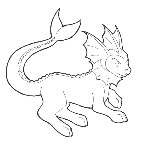 pokemon vaporeon coloring pages - photo#19