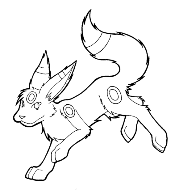Pokemon Coloring Pages Umbreon Www Imgkid Com The Umbreon Coloring Pages