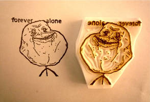 forever alone stamp