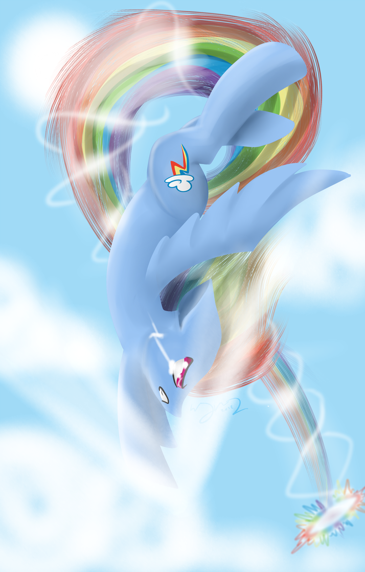 Sonic Rainboom by royalppurpl3