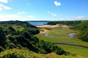 Three Cliffs Bay by Destroth
