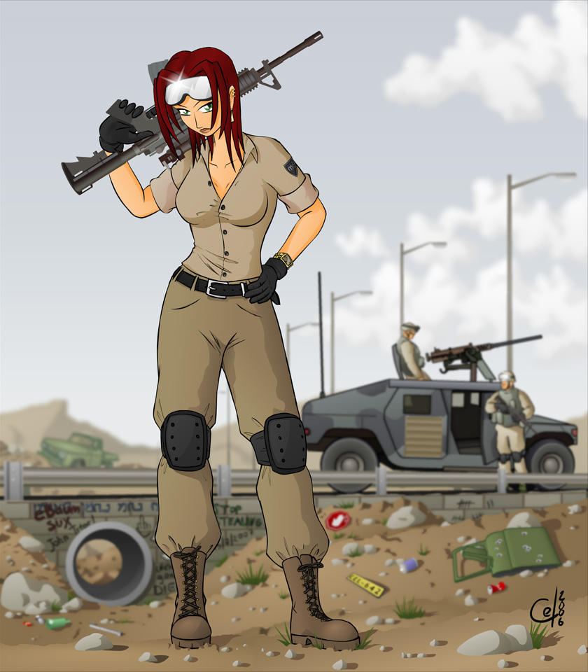 Pity, that Sexy anime military girl