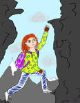 Girl climbing highest highs with no harness by NikaE10