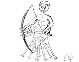 13 limbed human-like creature by NikaE10