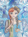 DisneyFrozen-Elsa and Anna, sisters and differents