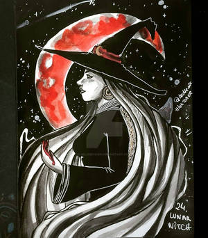 Inktober 24 - Lunar Witch