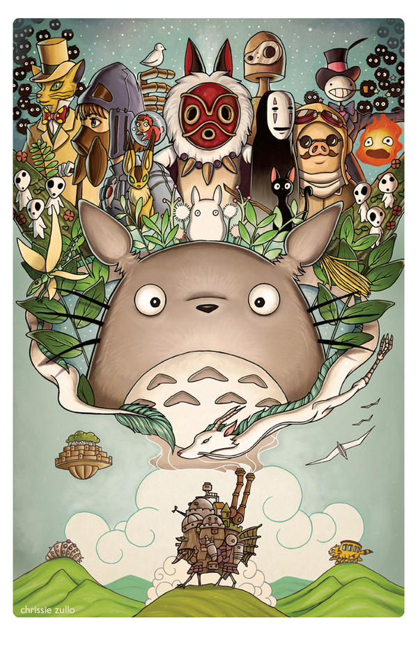 A Tribute to Hayao Miyazaki by chrissie-zullo
