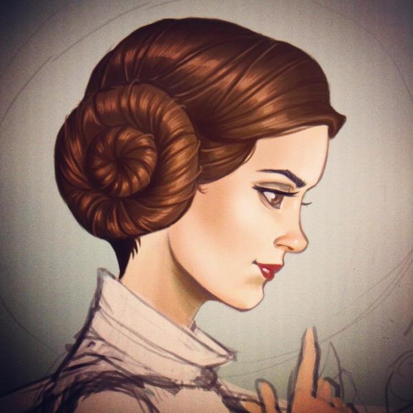 Princess Leia WIP by chrissie-zullo