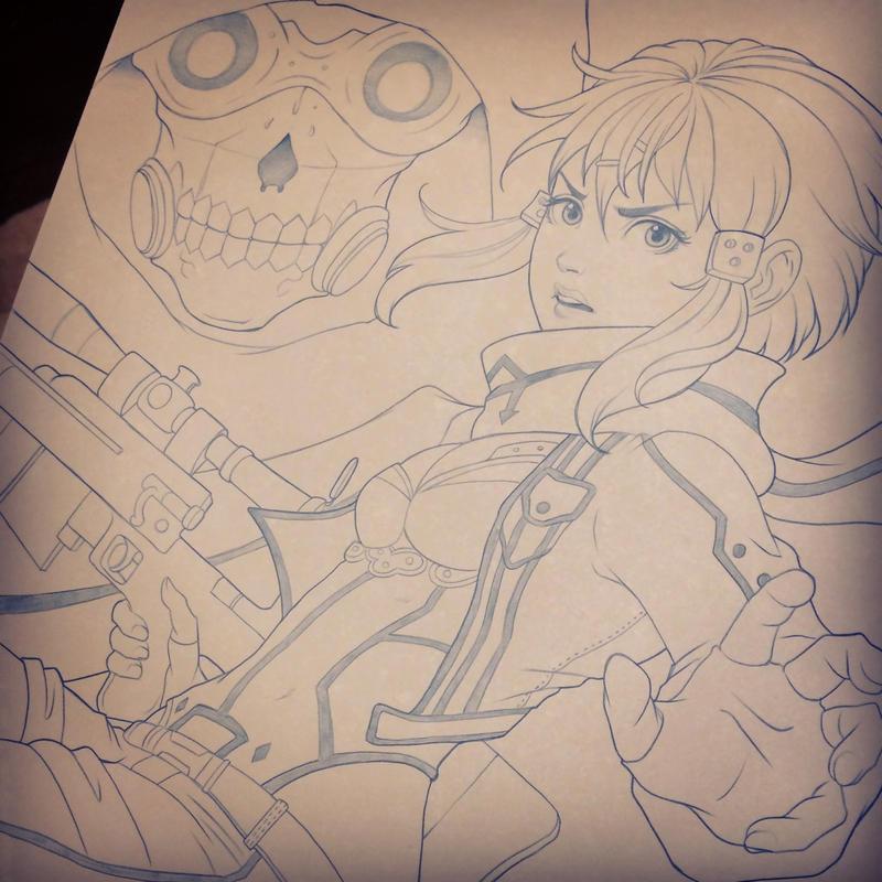 Sinon Sketch by chrissie-zullo